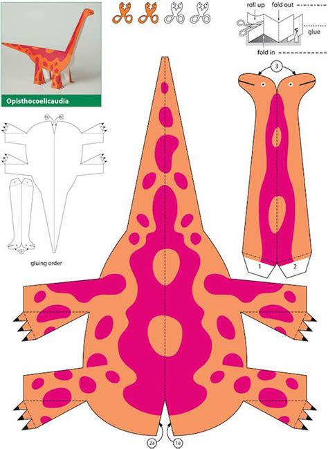 Dinosaur Papercraft Templates - imprime gratis 5 dinosaurios para ni 241 os pequeocio