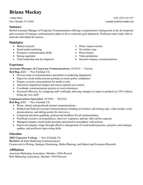 Restaurant Assistant Manager Resume by Best Restaurant Assistant Manager Resume Exle Livecareer