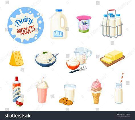 The Best Diet Milk And Cheese Department by Set Food Dairy Products Milk Stock Vector