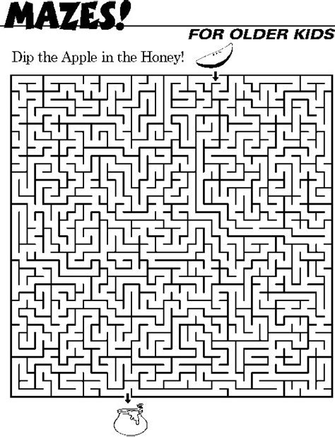 6 best images of big printable mazes free printable kids mazes google search kids activities pinterest