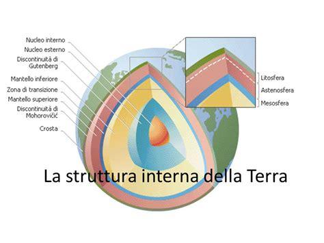 struttura interna terra la struttura interna della terra ppt scaricare