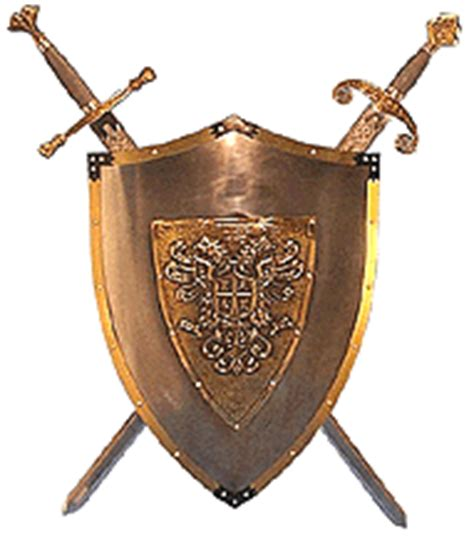 armour and swords on display distributor swords and armor shields