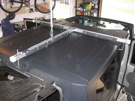jeep wrangler storage ideas hardtop hoist storage write up jeep wrangler ideas