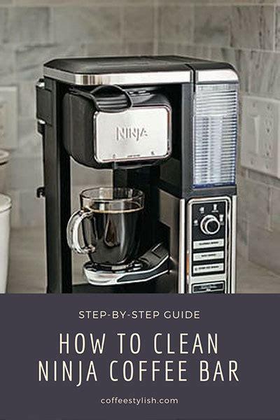 ninja coffee bar clean light coffee tips