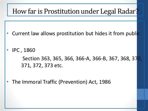 Arguments For Legalization Of Prostitution