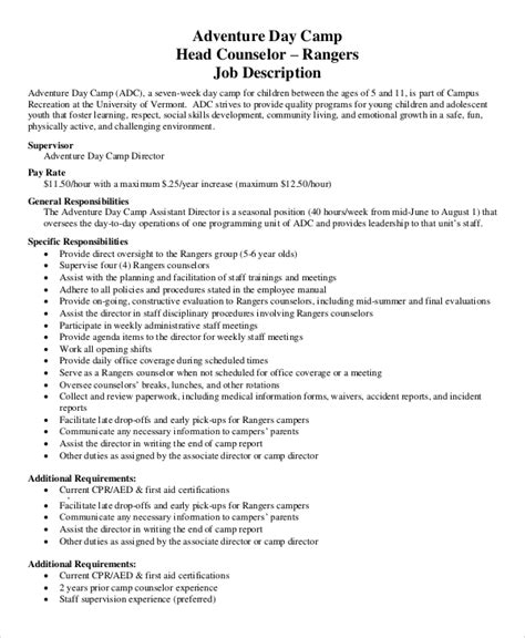 summer camp counselor resume nyc sales counselor lewesmr