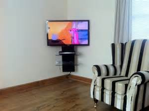 corner tv mounts with shelves tv wall mounting with cable management gallery av