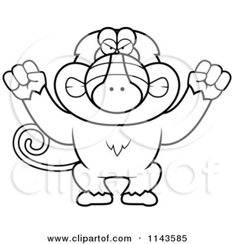 finger monkey coloring pages cartoon clipart of a black and white baboon monkey wearing