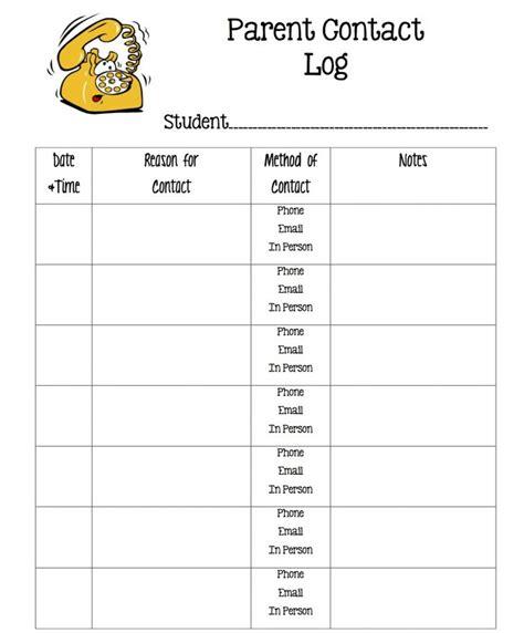 Parent Contact Log Template by Template Parent Contact Log Template