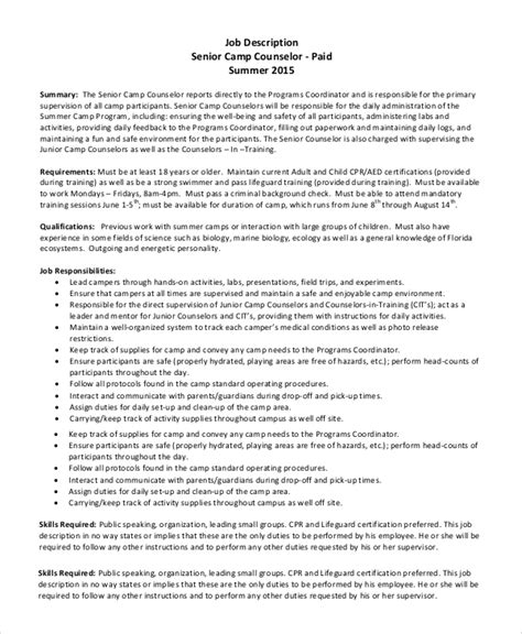 Summer C Counselor Resume by C Counselor Resume C Counselor Resume Summer C Counselor