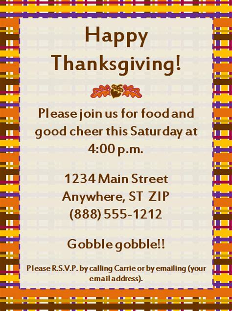 thanksgiving invitations email templates happy thanksgiving
