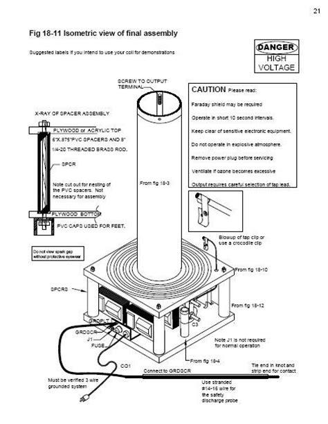 Tesla Coil Plans Medium Power Tesla Coil Plans Paper Format Unit Not