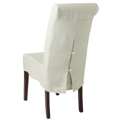 Chair Back Covers For Dining Chairs Linen Slip Cover For Echo Dining Chair Oka