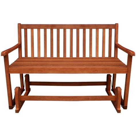 wood bench swing vidaxl porch glider swing bench acacia wood vidaxl com