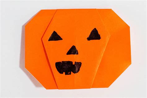 Origami Pumpkin - easy pumpkin origami all for the boys