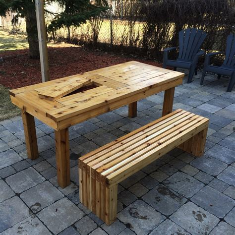 ana white diy patio table bench diy projects