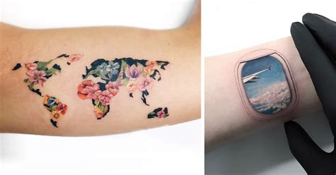 travel tattoo ideas 30 travel ideas that will make you want to pack