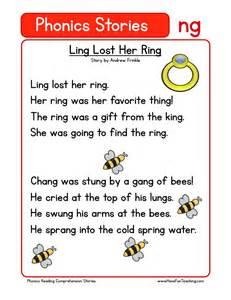 reading comprehension worksheet ling lost her ring