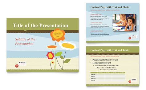 powerpoint design kindergarten child development school powerpoint presentation template