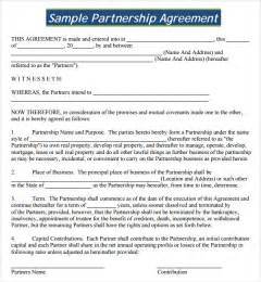 firm partnership agreement template sle partnership agreement 13 free documents