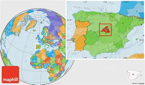 madrid spain on world map madrid map location