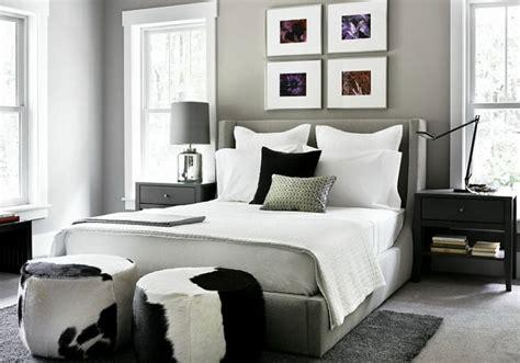 modern gray bedroom mad cowhide craze