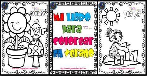 libro el verano de los mi libro para colorear en verano imagenes educativas