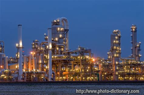 petrochemical plant photopicture definition  photo dictionary petrochemical plant word