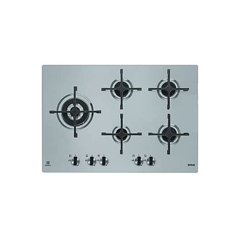 piani cottura da 75 egs 7658sxx electrolux piano cottura da 75 cm 5 fuochi