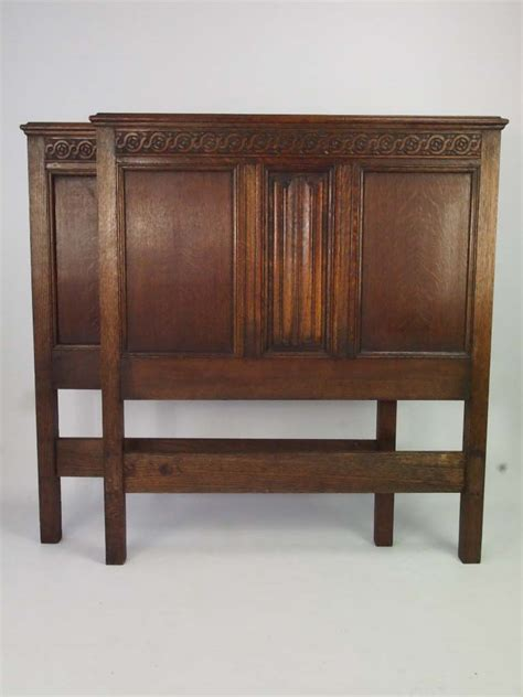 pair of oak headboards for single beds