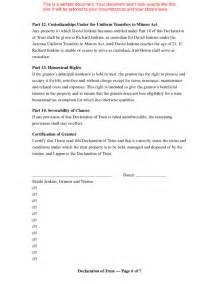 Living Trust Template by Doc 400518 Sle Living Trust Form Living Trust Form