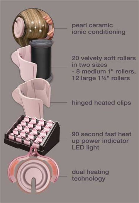 how to use electric rollers for a soft bob amazon com remington h9000 pearl ceramic heated clip