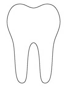 tooth templates free tooth pattern use the printable outline for crafts