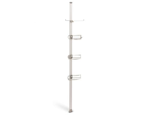 shower caddy floor to ceiling simplehuman tension shower caddy stainless steel anodised aluminium