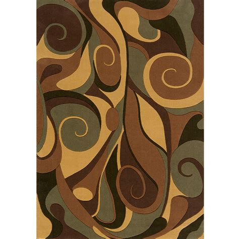 graffiti area rug shop momeni graffiti rectangular brown geometric woven wool area rug common 10 ft x 14 ft