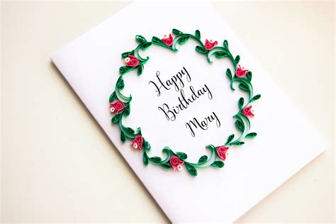 Personalized Birthday Card Personalized Birthday Card Personalized Happy Birthday Card