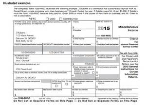 Irs 1099 Misc Template by Image Gallery Sle 1099 Misc