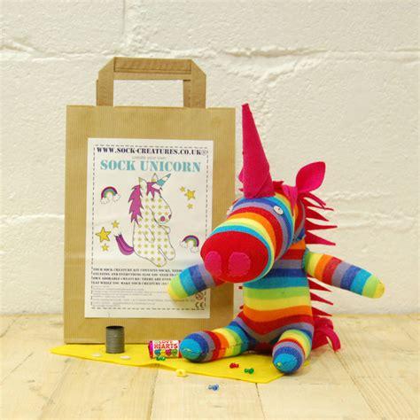 sock kit sock unicorn craft kit by sock creatures notonthehighstreet