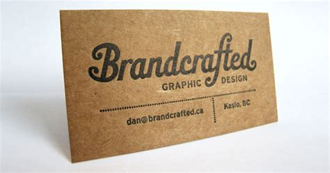 Craft Paper Card - kraft paper business cards 14 eye catching exles