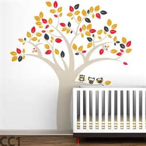 Nursery Wall Decorations Removable Stickers littlelion studio owl tree extra large kids wall decals by
