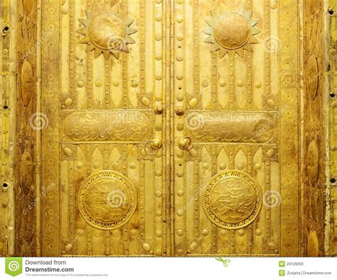 golden door stock image image of arabic muslim