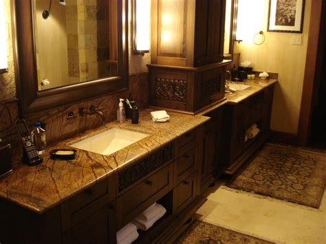 Bathroom Granite Countertops Ideas by 30 Interesting Bathroom Countertop Granite Tile Picture