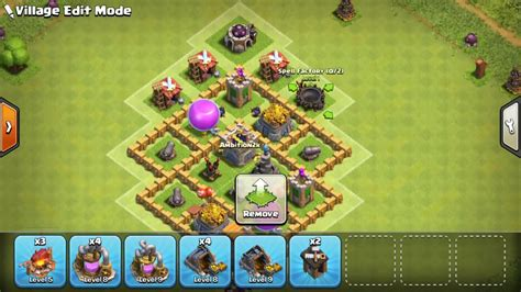 coc layout defense th5 clash of clans town hall 5 defense coc th5 best trophy