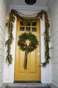 mustard front door design dump christmas at my house