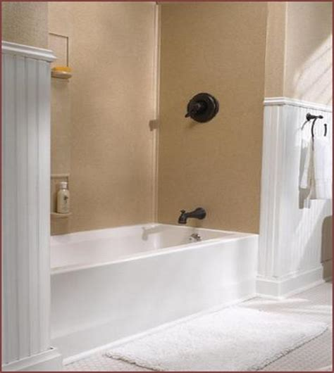How To Install Bathtub Walls by Solid Surface Bathtub Wall Surround Home Design Ideas