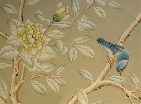 painted wallpaper jones design company hand painted wallpaper chinoiserie wallpaper silk