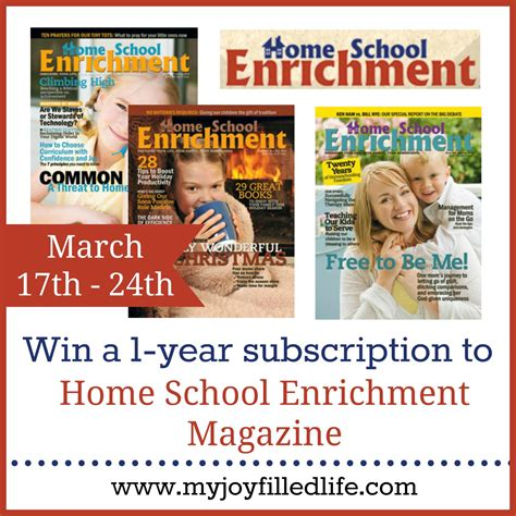 Magazine Giveaways - home school enrichment magazine blog birthday giveaway my joy filled life