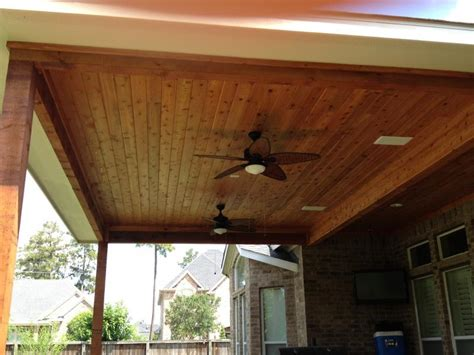 stained beadboard stained beadboard ceiling design patios