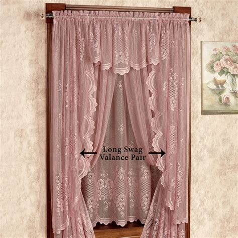victorian swag curtains cameo rose victorian rose lace window treatment