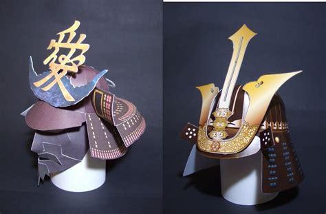 Samurai Papercraft - samurai helmet papercrafts papercraft paradise